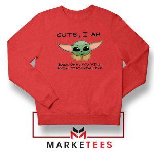 Social Distancing Child Alien Red Sweatshirt