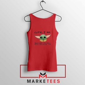 Social Distancing Child Alien Red Tank Top