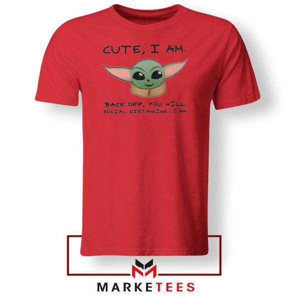 Social Distancing Child Alien Red Tshirt