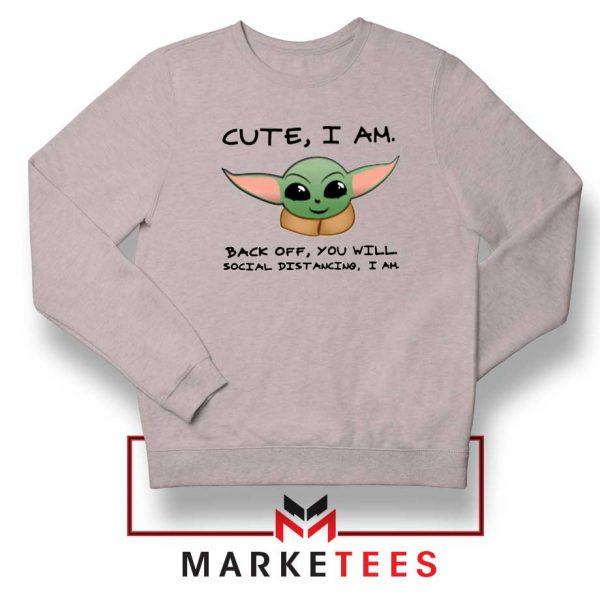 Social Distancing Child Alien Sport Grey Sweatshirt
