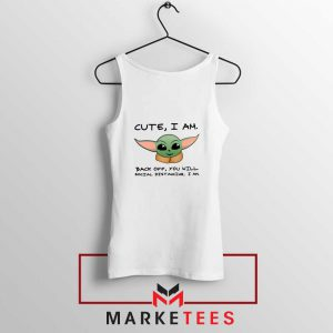 Social Distancing Child Alien Tank Top