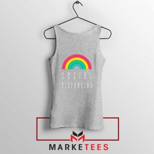 Social Distancing Rainbow Sport Grey Tank Top