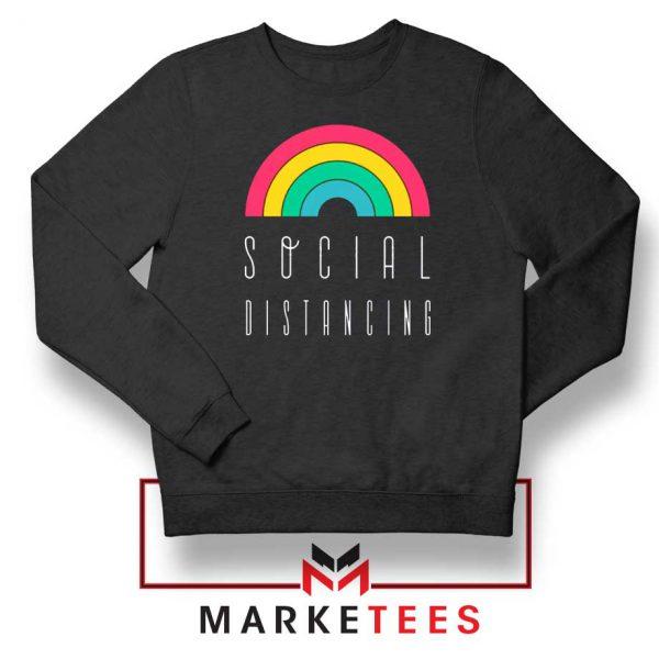 Social Distancing Rainbow Sweatshirt