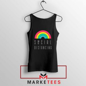 Social Distancing Rainbow Tank Top