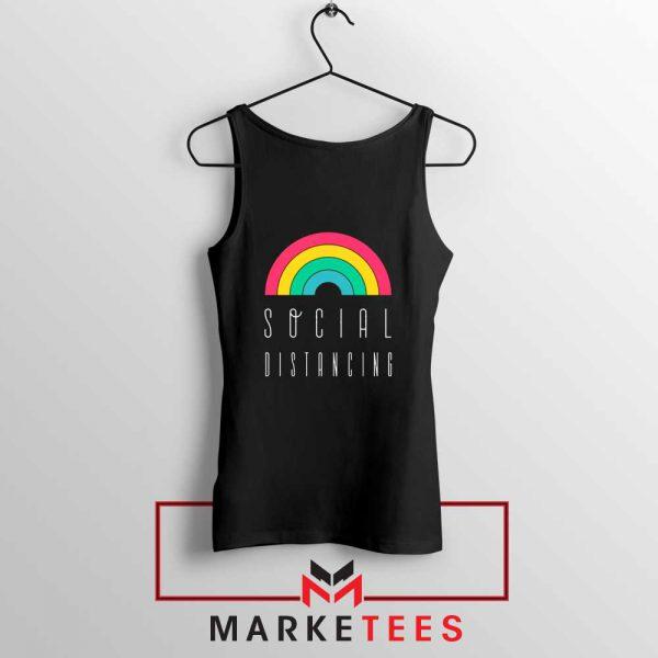 Social Distancing Rainbow Tank Top