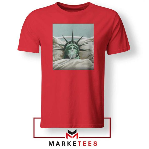 Statue Liberty Hurts Red Tshirt