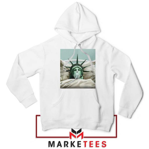 Statue Liberty Hurts White Hoodie
