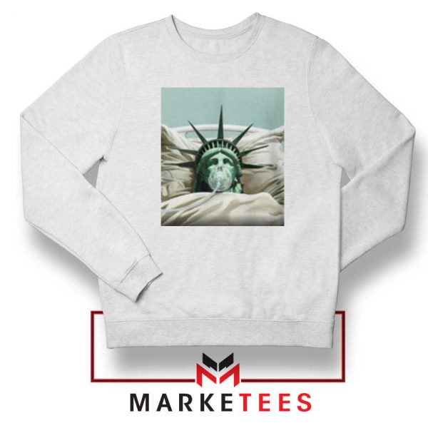 Statue Liberty Hurts White Sweatshirt