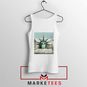 Statue Liberty Hurts White Tank Top