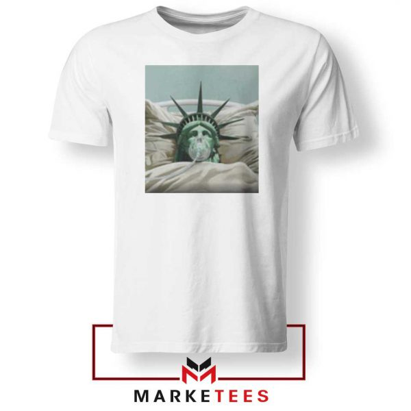 Statue Liberty Hurts White Tshirt