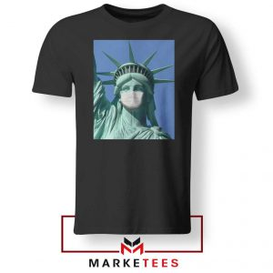 Statue of Liberty Mask Black Tshirt