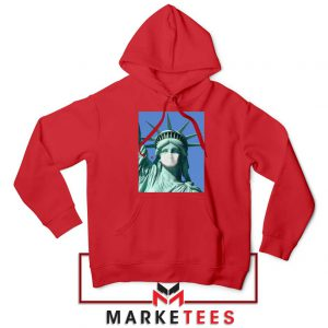 Statue of Liberty Mask Red Hoodie