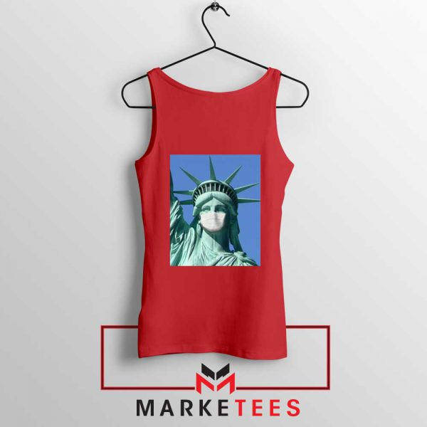 Statue of Liberty Mask Red Tank Top