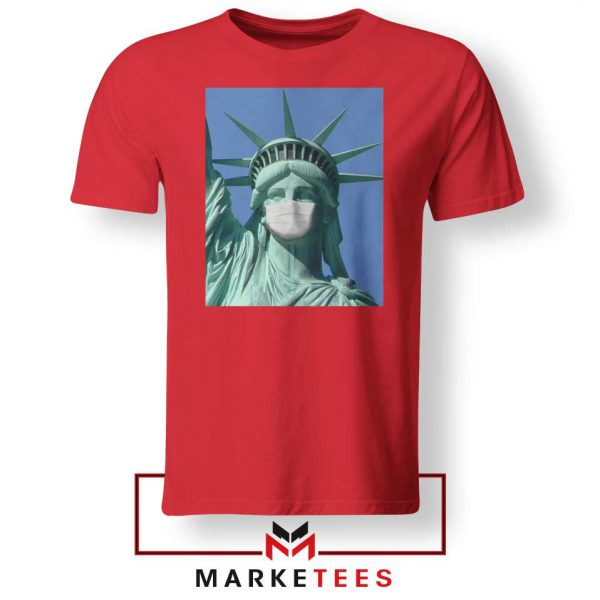 Statue of Liberty Mask Red Tshirt