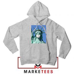 Statue of Liberty Mask Sport Grey Hoodie