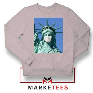 Statue of Liberty Mask Sport Grey Sweatshirt