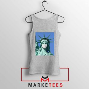 Statue of Liberty Mask Sport Grey Tank Top