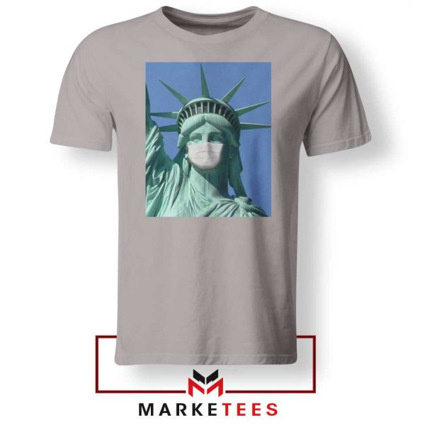 Statue of Liberty Mask Sport Grey Tshirt