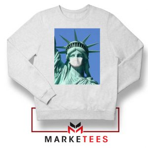 Statue of Liberty Mask Sweatshirt
