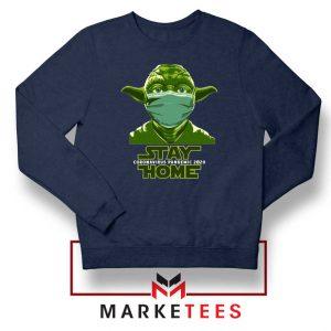 Stay Home Yoda Navy Blue Sweatshirt