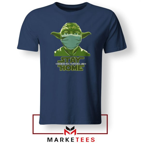 Stay Home Yoda Navy Blue Tshirt