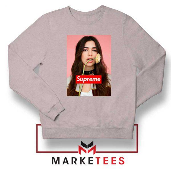 Supreme Parody Dua Lipa Sport Grey Sweatshirt