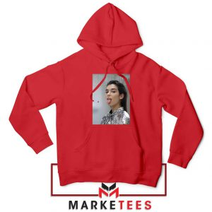 Tongue Out Poster Dua Lipa Red Hoodie
