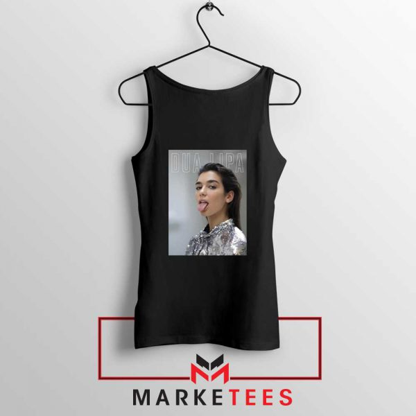Tongue Out Poster Dua Lipa Tank Top