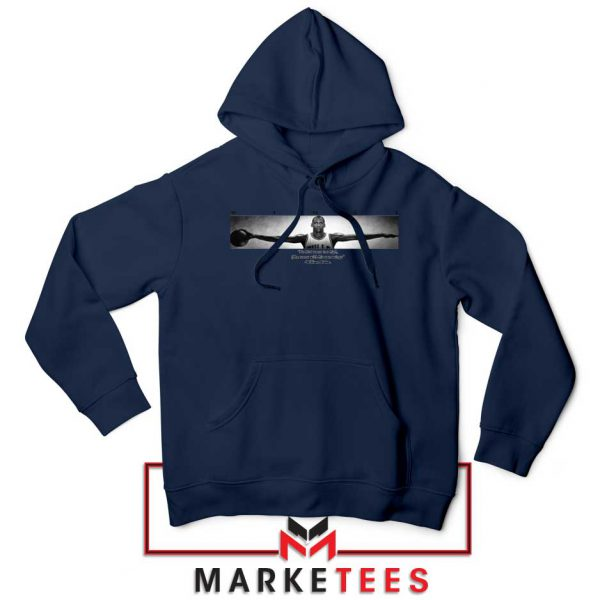 Wings Michael Jordan Navy Blue Hoodie