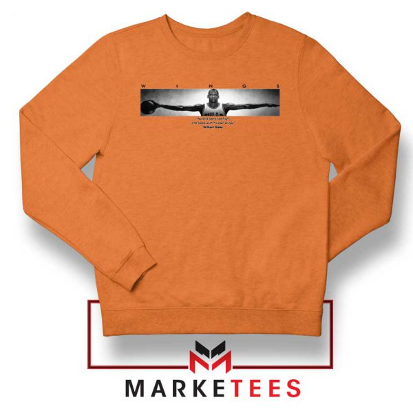 Wings Michael Jordan Orange Sweatshirt