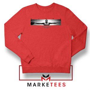 Wings Michael Jordan Red Sweatshirt