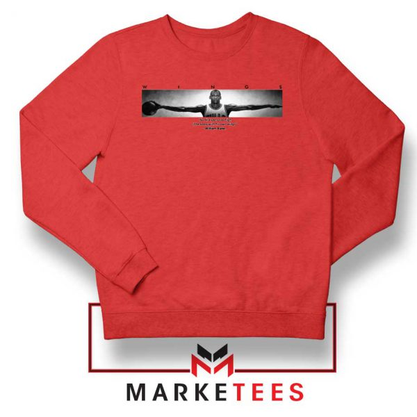 Wings Michael Jordan Red Sweatshirt