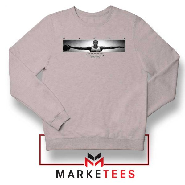 Wings Michael Jordan Sport Grey Sweatshirt
