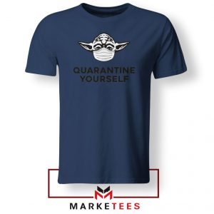 Yoda Quarantine Yourself Navy Blue Tshirt