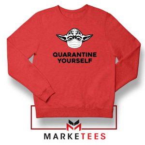 Yoda Quarantine Yourself Red Sweatshirt
