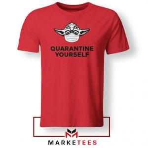 Yoda Quarantine Yourself Red Tshirt