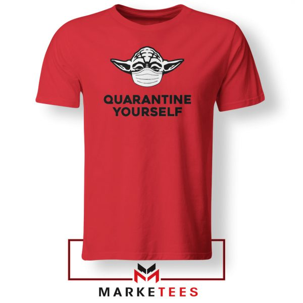 Yoda Quarantine Yourself Red Tshirt