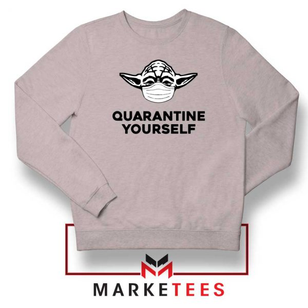 Yoda Quarantine Yourself Sport Grey Sweatshirt