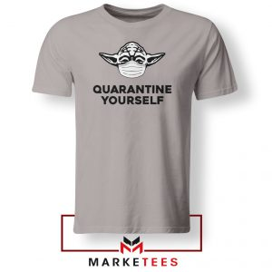 Yoda Quarantine Yourself Sport Grey Tshirt