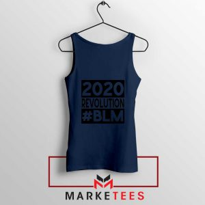 2020 Revolution #BLM Navy Blue Tank Top