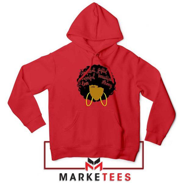 African American Woman Red Hoodie