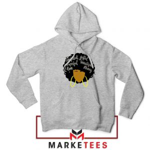 African American Woman Sport Grey Hoodie
