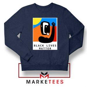BLM African America Navy Blue Sweatshirt