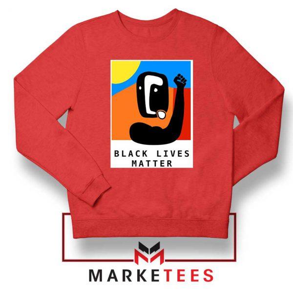 BLM African America Red Sweatshirt