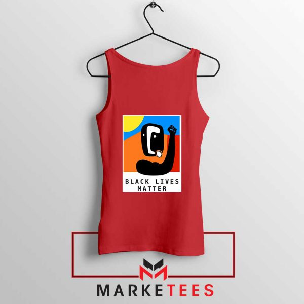 BLM African America Red Tank Top