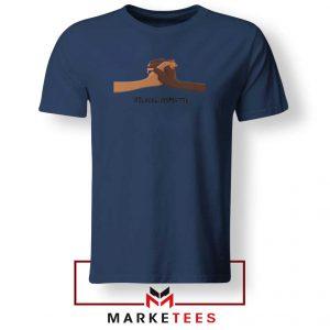 Black Lives Matter Navy Blue Tshirt