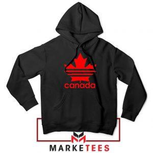 Canada Sport Maple Leaf Black Hoodie