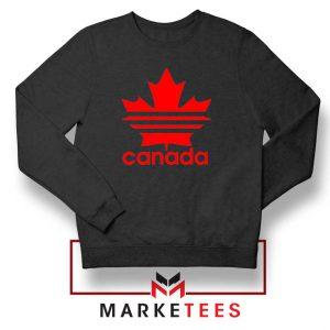 Canada Sport Maple Leaf Black Sweatshirt