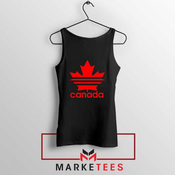 Canada Sport Maple Leaf Black Tank Top