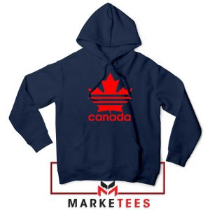 Canada Sport Maple Leaf Navy Blue Hoodie